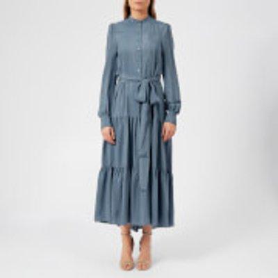 See By Chloé Women's Signature Crepe de Chine Dress - Mirage Blue - FR 38/UK 10 - Blue