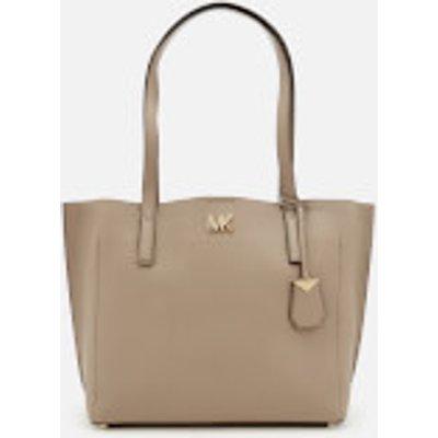MICHAEL MICHAEL KORS Women s Ana Medium East West Bonded Tote Bag   Truffle - 192317871203