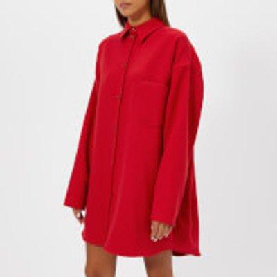 MM6 Maison Margiela Women's Oversized Shirt Dress - Red - IT 42/UK 10 - Red