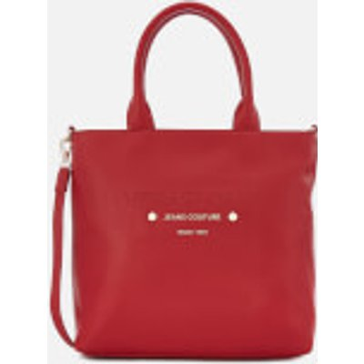 Versace Jeans Women s Logo Print Shopper Bag   Red - 8057006667913