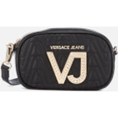 Versace Jeans Women s Diamonte VJ Cross Body Bag   Black - 8057006666572