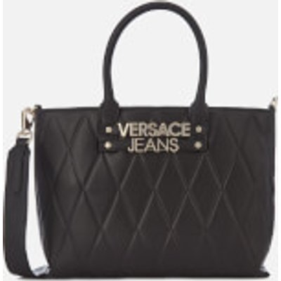 Versace Jeans Women s Quilted Classic Tote Bag   Black - 8057006658430