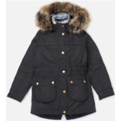 Barbour Girls' Dartford Wax Jacket - Navy - XL/12-13 Years - Navy