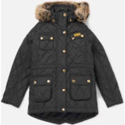 Barbour Girls' International Enduro Quilt Jacket - Black - M/8-9 years - Black