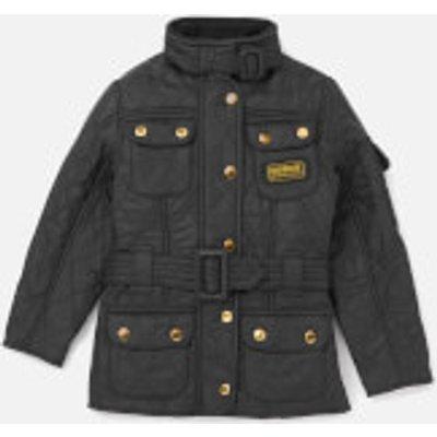 Barbour Girls' International Quilt Jacket - Black/Black - M/8-9 years - Black