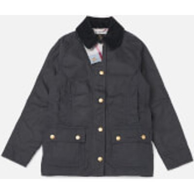Barbour Girls' Bower Wax Jacket - Navy - XL/12-13 Years - Navy