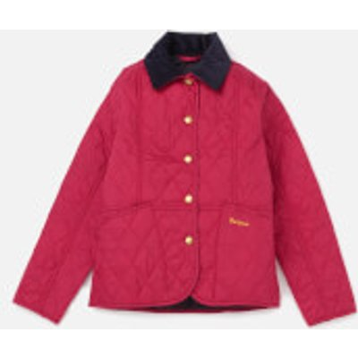 Barbour Girls' Summer Liddesdale Jacket - Fucshia/Navy - XL/12-13 Years - Pink, Navy
