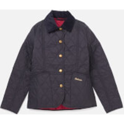 Barbour Girls' Summer Liddesdale Jacket - Navy/Fucshia - M/8-9 years - Navy