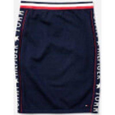 Tommy Hilfiger Girls' Iconic Logo Skirt - Black Iris - 14 Years - Black