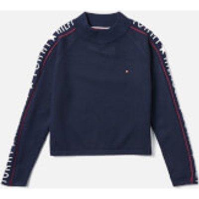 Tommy Hilfiger Girls' Iconic Logo Sweatshirt - Black Iris - 12 Years - Black