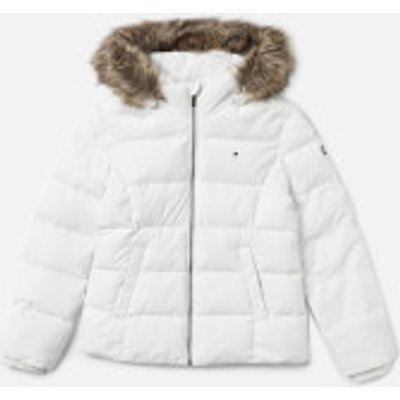Tommy Hilfiger Girls' Essential Basic Down Jacket - Snow White - 8 Years - White