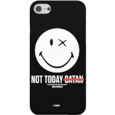 Smiley World Slogan Not Today Satan Phone Case for iPhone and Android - iPhone 8 - Tough Case - Glos
