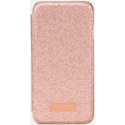 Ted Baker Women's Glitsie Glitter iPhone 8 Mirror Case - Baby Pink