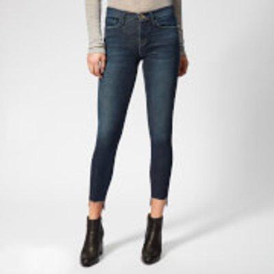 Frame Women's Le Skinny de Jeanne Raw Stagger Jeans - Galvin - W26 - Blue