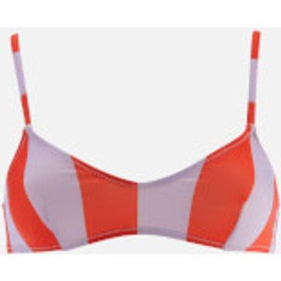 Solid & Striped Women's The Rachel Top - Lavender Red Stripe - L - Multi