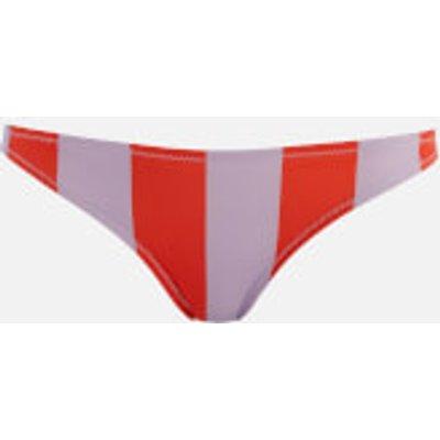 Solid & Striped Women's The Rachel Bottoms - Lavender Red Stripe - L - Multi