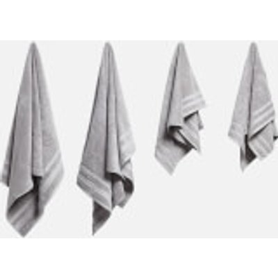 in homeware Supersoft 100  Cotton 4 Piece Towel Bale   Silver - 5056281109784
