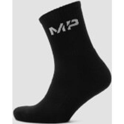 MP Essentials Men's Crew Socks - Black (2 Pack) - UK 6-8