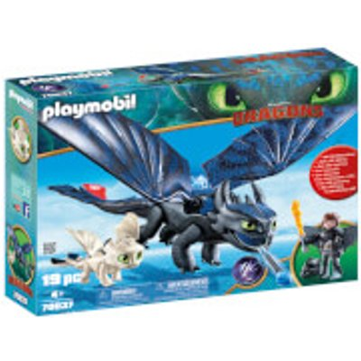 Playmobil DreamWorks Dragons Hiccup and Toothless with Baby Dragon (70037)