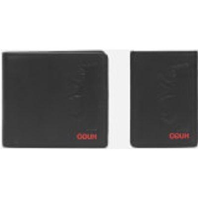 HUGO Men's Wallet and Card Case Gift Box - Black