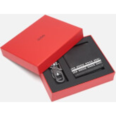 HUGO Men's Wallet and Key Holder Gift Box - Black