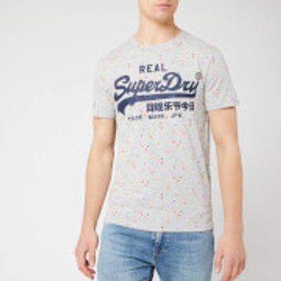 Superdry Men's Vintage Logo Aop Mid T-Shirt - Grey Marl - S