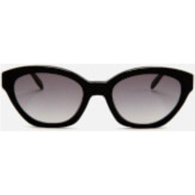 Karl Lagerfeld Women's Oval Frame Sunglasses - Black