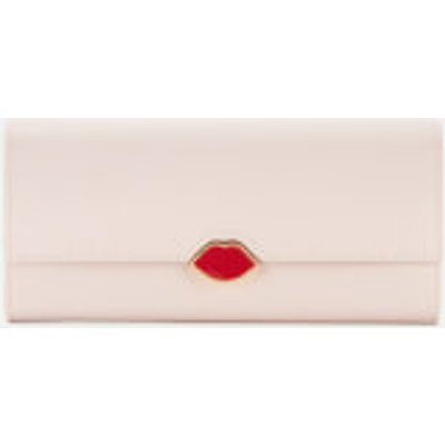 Lulu Guinness Women s Lips Cora Wallet   Blush - 5056238006647