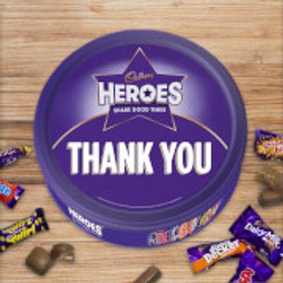 Cadbury Heroes Tin - Thank You