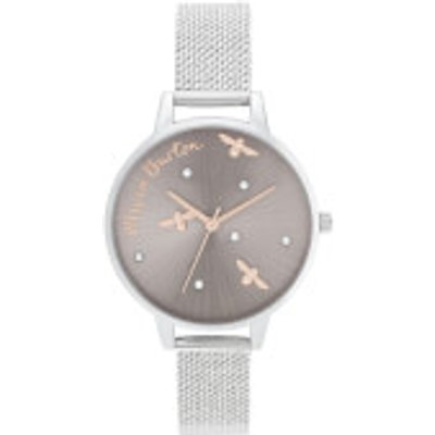 Olivia Burton Women s Pearly Queen Watch   Silver - 7613272366311