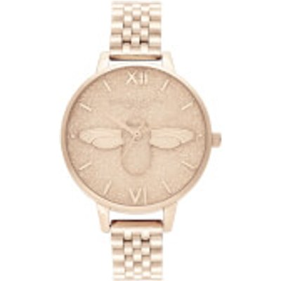 Olivia Burton Women s Glitter Dial Bracelet Watch   Pale Rose Gold - 7613272364218