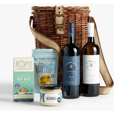 John Lewis & Partners Wine Duo and Nibbles Basket
