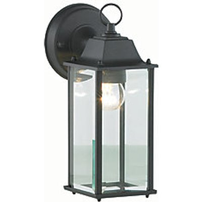 Zinc Ceres Black Bevelled Glass Lantern - 60W