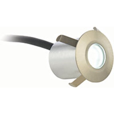 Culina Cool White LED Recessed Round Deck Light - Satin Nickel