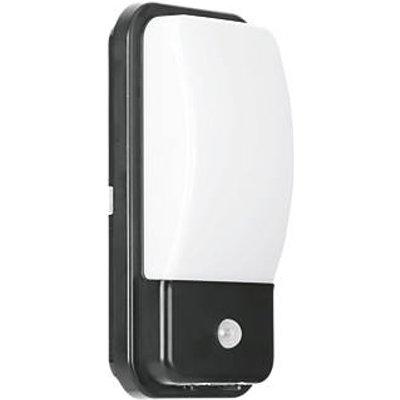 Enlite UtiliteX Rectangular LED Security Bulkhead With PIR Sensor Black 10W (100FH)