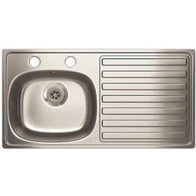 Carron Phoenix Kitchen Sink Stainless Steel 1 Bowl 940 x 485mm (10776)