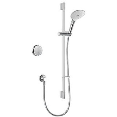 Mira Activate Gravity-Pumped Rear-Fed Single Outlet Chrome Thermostatic Digital Mixer Shower (107KJ)