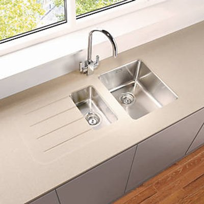 Metis  Sand Sink Module with 1.5 Bowl Stainless Steel Sink 3050 x 620 x 15mm (108PH)