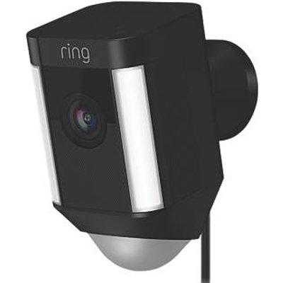 Ring Spotlight Black Wired 1080p Outdoor Camera with Spotlight with PIR Sensor (110GX)