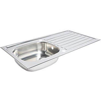 Kitchen Sink & Drainer Stainless Steel 1 Bowl 940 x 490mm (1153K)