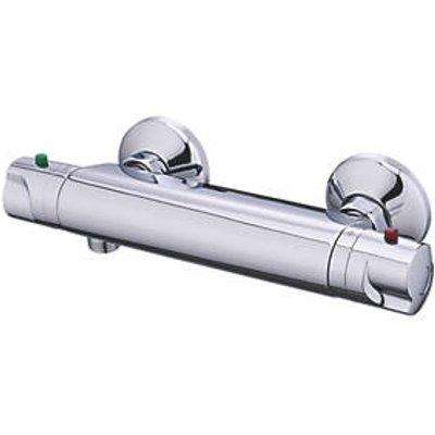 Cooke & Lewis Mulga Exposed Thermostatic Mixer Shower Valve Fixed Chrome (117FV)