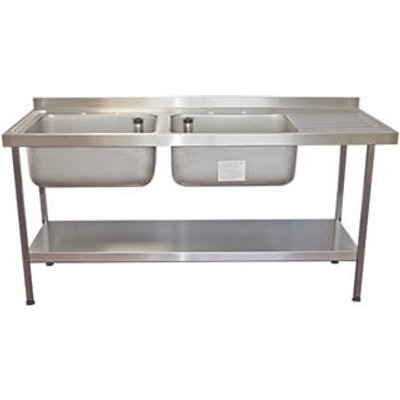 Franke Midi Catering Sink Stainless Steel 2 Bowl 1800 x 650mm (1203G)