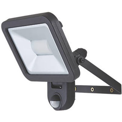LAP Weyburn Outdoor LED Floodlight With PIR Sensor Black 20W 1600lm (122CC)