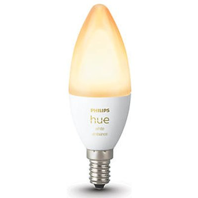 Philips Hue Ambiance Bluetooth LED Candle ES Smart Light Bulb Warm White / Cool White 40W 470Lm 2 Pack (130KJ)