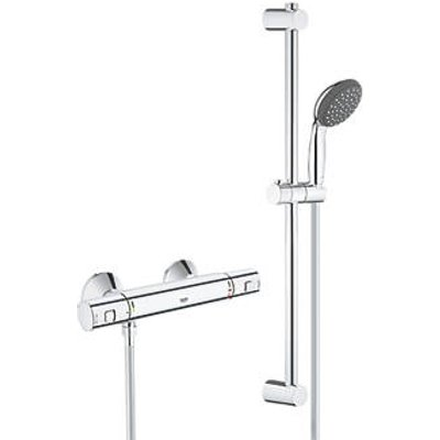 Grohe Precision Start HP Rear-Fed Exposed Chrome Thermostatic Shower Mixer (132JY)