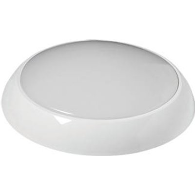 Robus Golf Slim Indoor & Outdoor Round LED 3hr Emergency Bulkhead With Microwave Sensor White 12.1W 830 / 900 / 910lm (133KJ)