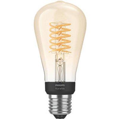 Philips Hue LED ST64 ES Virtual Filament Smart Bulb Warm White 7W 550Lm (150JF)