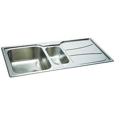 Carron Phoenix Zeta Reversible Inset Sink & Drainer Stainless Steel 1.5 Bowl 1030 x 510mm (1546V)