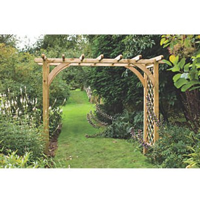 Forest Ultima Garden Pergola Arch Natural Timber 2700 x 1360 x 2448mm (1595F)
