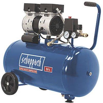 Scheppach HC50Si 50Ltr Electric Silent Air Compressor 230V (163HK)